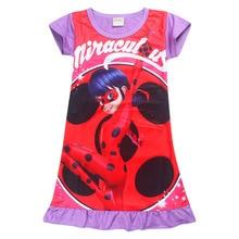 Nuevo Vestido de Las Muchachas de la Mariquita Impresa Ropa de Los Cabritos Niños Jumper Vestido de Fiesta de Disfraces de Dibujos Animados Ropa Casual Vestidos de Menina(China (Mainland))