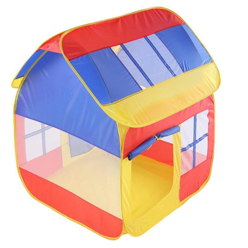 Coloré Jouer Tente Portable Pliable Quadrilatère Maison Enfant Intérieur Camping Tentes Net Fil Enfants Castle Cubby Maison Maisonnettes