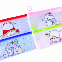 1pcs/lot Japan Cute Cartoon Bear Bag Four Selection For Students Gift And Beautiful Pencil Case
