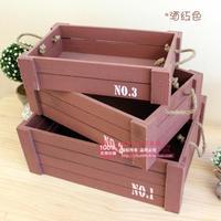 Американский деревянный ZAKKA хранения древесины корзины корзина для хранения Косметический коробка для хранения мусора корзины корзина для
