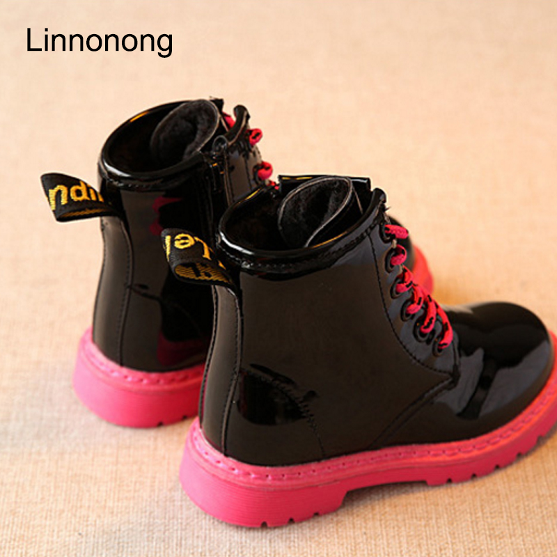Hot-Winter-Children-Snow-Boots-Fashion-Kids-Girls-Boys-Lace-up-Martin-Boots-Plush-Keep-Warm-Antislip-Patent-Leather-Boots-Shoes-4