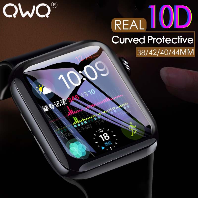 10D Curved Screen Protector Film On The For Apple Watch 4 3 2 1 Hydrogel Film For Apple Watch 38 40 42 44mm Protective No Glass