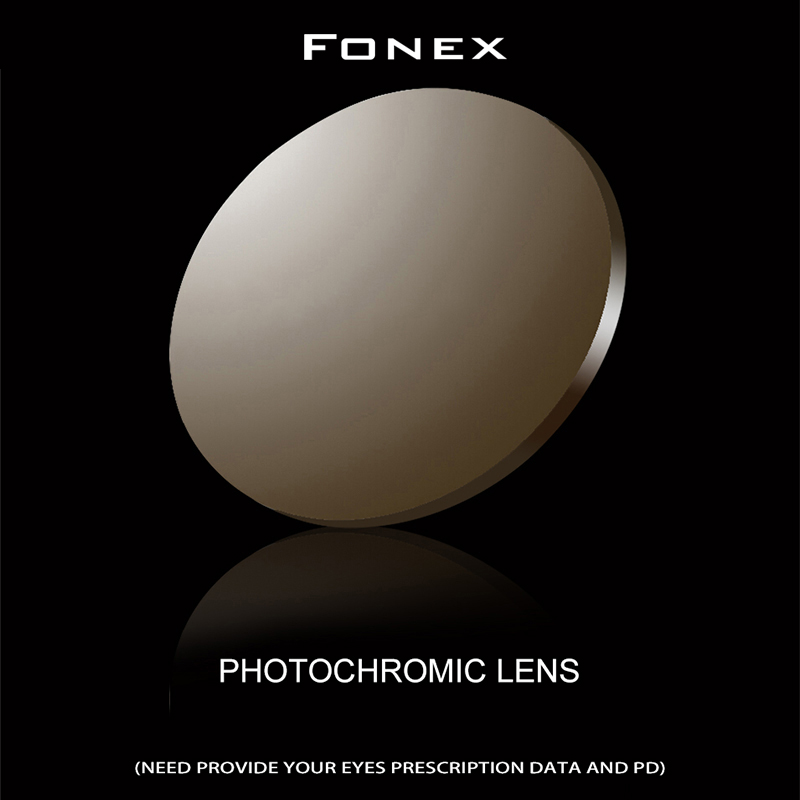 FONEX 1.56 1.61 1.67 Photochromic Prescription CR-39 Resin Aspheric Glasses Lenses Myopia Sunglasses Lens