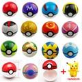 20pcs/lot 10pcs PokeBalls +10pcs Figures ABS Anime Action Figures Poke Ball Toys Super Toys Pikachu Figures toy