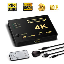 NewBEP HDMI Switch 3 input 1 output HDMI Switcher 3X1 for VCR 360 PS4/3 Smart Android HDTV 4K*2K 3 Port HDMI Adapter