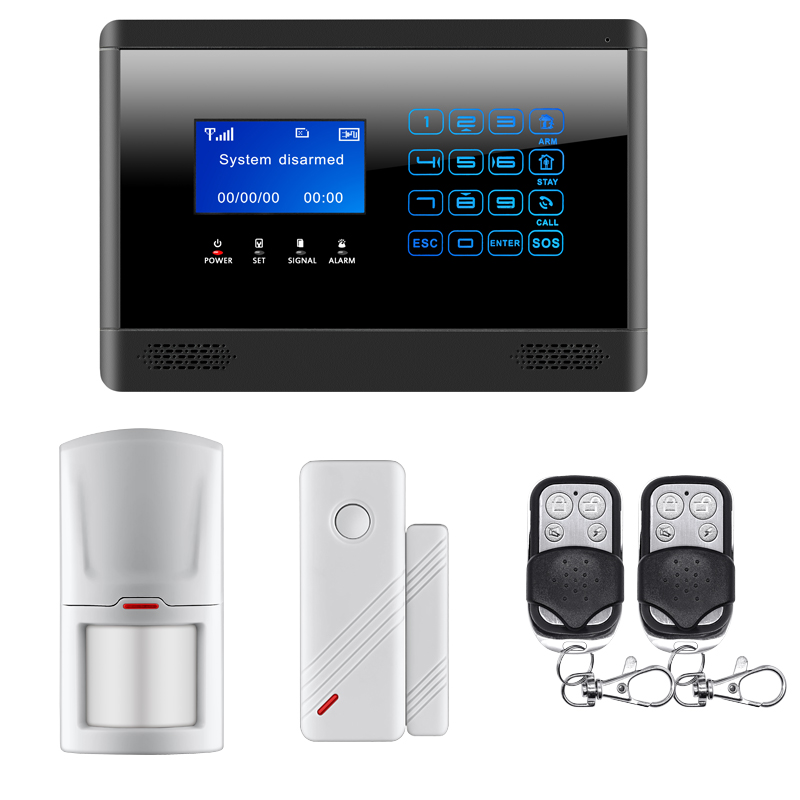 Wireless Alarm Mainframe Kits GSM SMS TEXT Alarm Touch Keypad Home House Alarm System Touch Screen Door/Window Sensor Alarm new safurance wireless lcd gsm sms autodial alarm security home house burglar intruder system home safety alarm mainframe kits