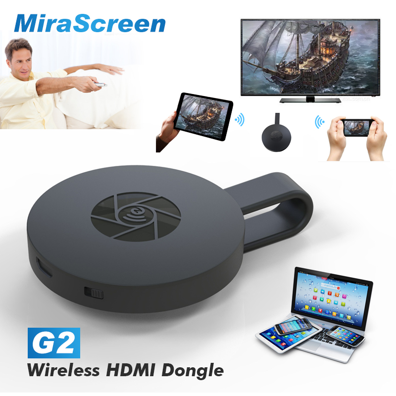 G2 Wireless WiFi Display Dongle Receiver Mirascreen 1080P HD TV Stick Airplay Miracast Media Streamer Adapter