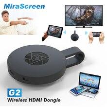 G2 WiFi Wireless Display Dongle Receptor Mirascreen 1080 P HD Stick de TV Adaptador para Chromecast Airplay Miracast Media Streamer 2