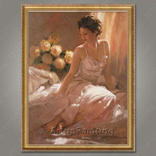 Spanish Flamenco Dancer painting latina woman Oil painting on canvas hight Quality Hand-painted Painting latina 30