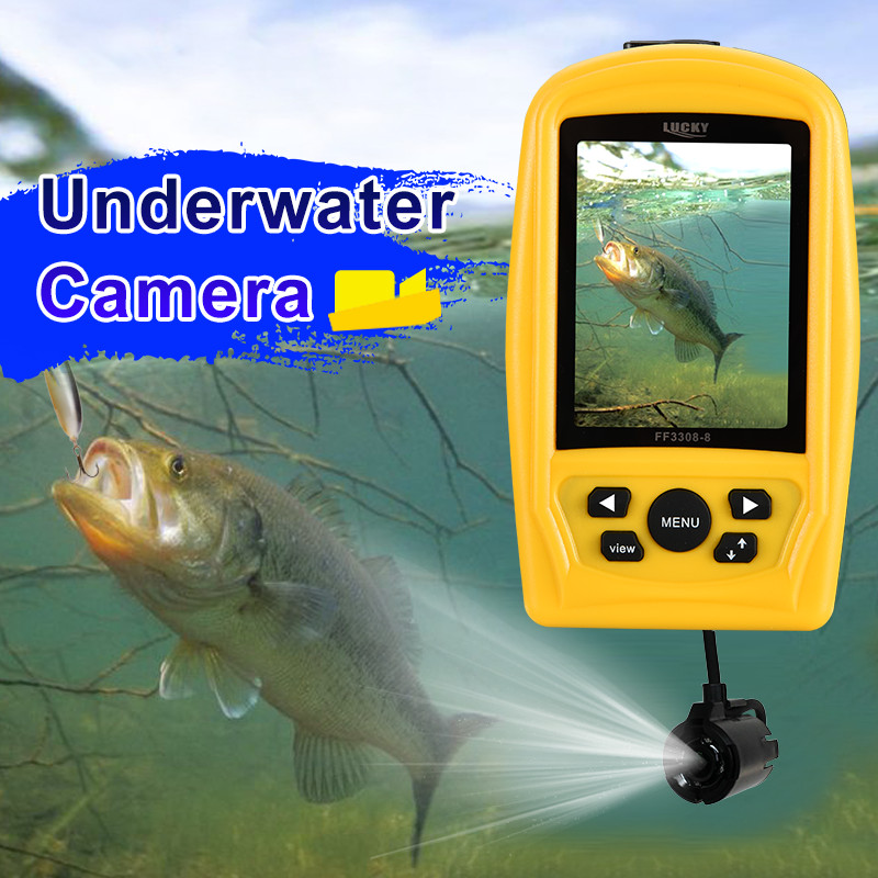 FF3308-8 Portable Fish Finder Monitor with Waterproof 20M Underwater Fish Inspection Camera System CMD Sensor 3.5IN TFT RGB