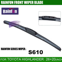 "RAINFUN dedicated car wiper blade for TOYOTA HIGHLANDER/KLUGER(2008-) , 26""+20"" auto wiper blade with natural rubber refill"