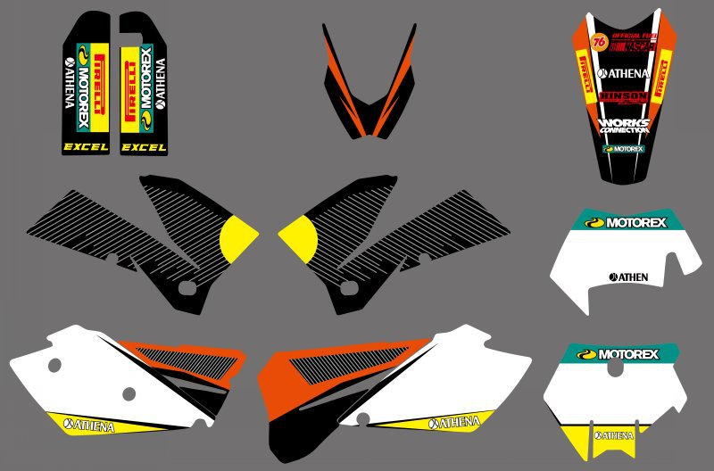 Motorcycle Graphics Stickers Decals For KTM SXF MXC XC SX EXC 125 200 250 300 350 400 450 525 2005 2006 2007 все цены