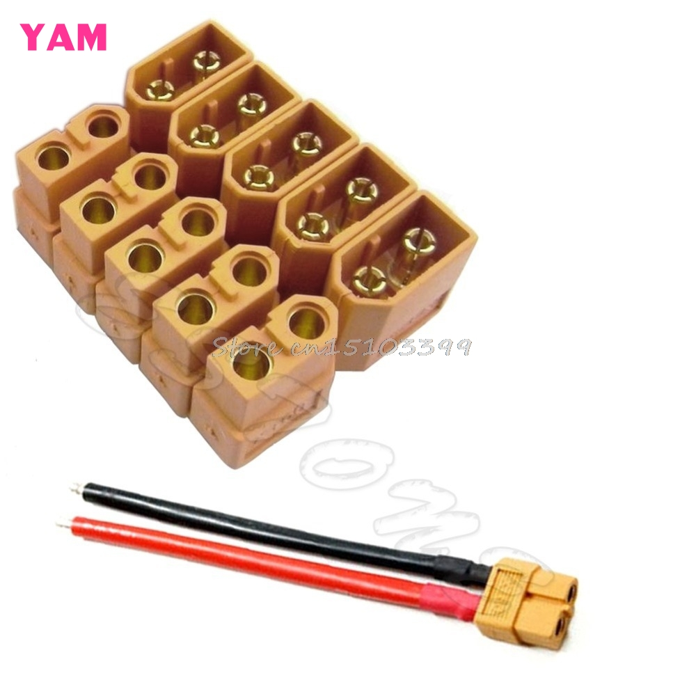 New 5 Pairs XT60 Male Female Bullet Connectors Plugs for RC Lipo Battery #G205M# Best Quality m12 aviation plug 8pins stragiht female or male plugs sensor connector socket connectors