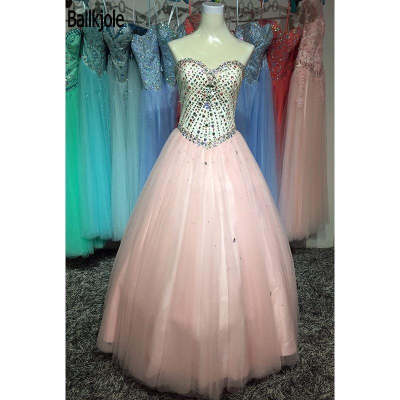 Haute qualité mode chérie une ligne longueur de plancher plis perles cristal Multi Tulle grande taille robe de bal robes de Quinceanera