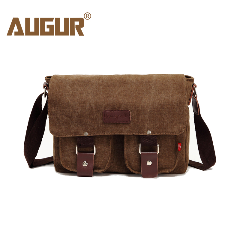 AUGUR New Men Crossbody Bag Male Vintage Canvas Men's Shoulder Bag Military Style High Quality Messenger Bag Casual Travelling augur 2017 canvas leather crossbody bag men military army vintage messenger bags shoulder bag casual travel school bags