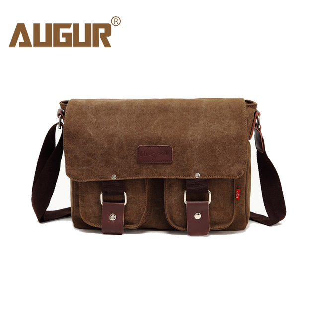 503da8b028 AUGUR New Men Crossbody Bag Male Vintage Canvas Men s Shoulder Bag Military  Style High Quality Messenger Bag Casual Travelling