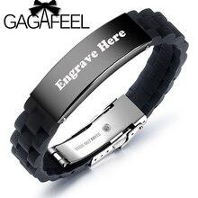 GAGAFEEL Fashion Customized Bracelets For Men Black /silver