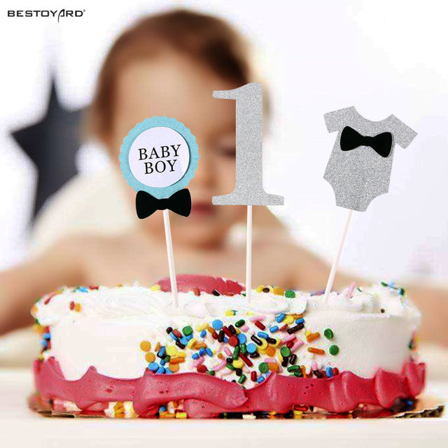 Online Shop Cake Topper Flag Baby Boy 1 Year Old Age Happy Birthday