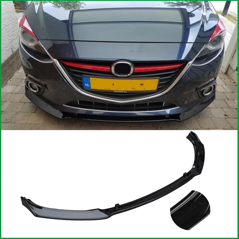 Para Mazda Axela 3 M3 2014-2018 Body Kit Amortecedor Dianteiro Grade Inferior Tampa Protetor Placa Difusor Lip Spoiler estilo Do Carro guarnição