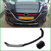 Für Mazda 3 M3 Axela 2014-2018 Körper Kit Frontschürze Kühlergrill Diffusor Protector Platte Lip Spoiler Abdeckung trim Auto Styling