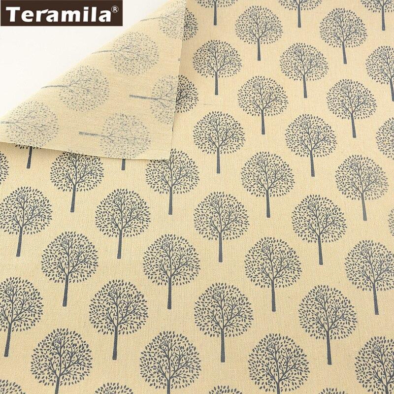 Bolsa cortina almohada cojín zakka impresión árboles cm teramila textiles para e