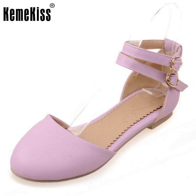 Size 34-39 Fashion Sandals Women Shoes Ankle Strap Round Toe Flats Sandals Brand Sexy Sandalias Dress Footwear Shoes PA00646 women flat sandals fashion ladies pointed toe flats shoes womens high quality ankle strap shoes leisure shoes size 34 43 pa00290