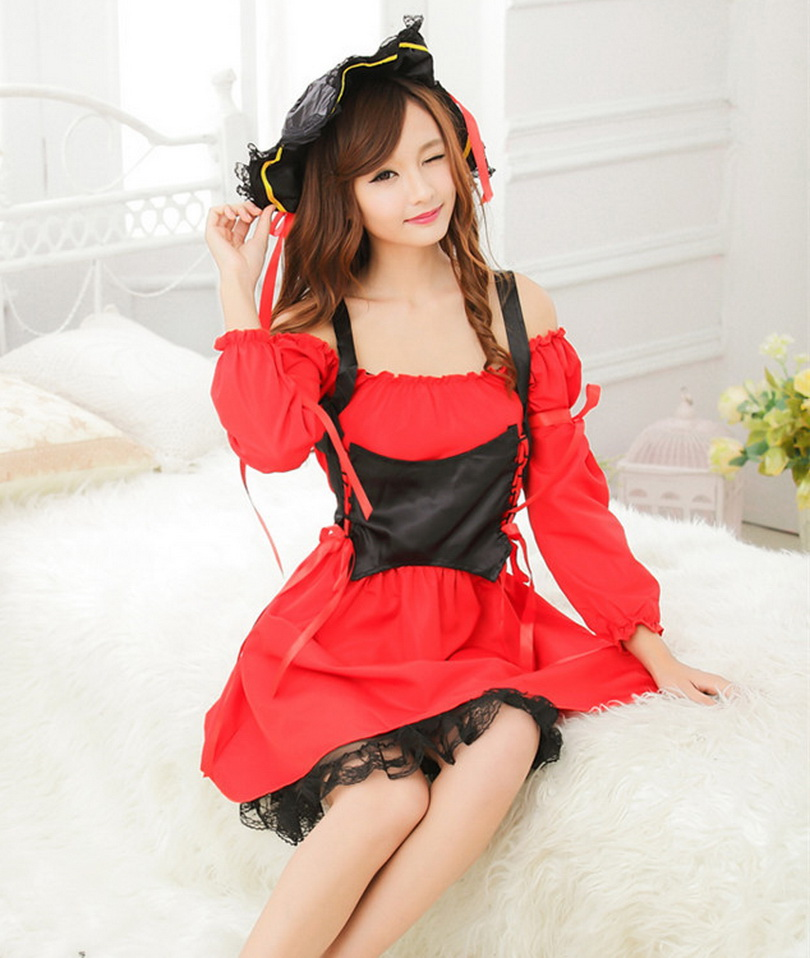 Buy Sexy Pirate Halloween Costumes Women Cosplay Witch Queen Dress Nightclub Lingerie Uniforms Women's Role-playing Clothes Hot