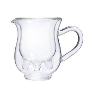 لطيف البقر القدح طبقة مزدوجة الزجاج المقاوم للحرارة العزل شفافة المشروبات كوب 230 ml قدرة كبيرة كوب ماء