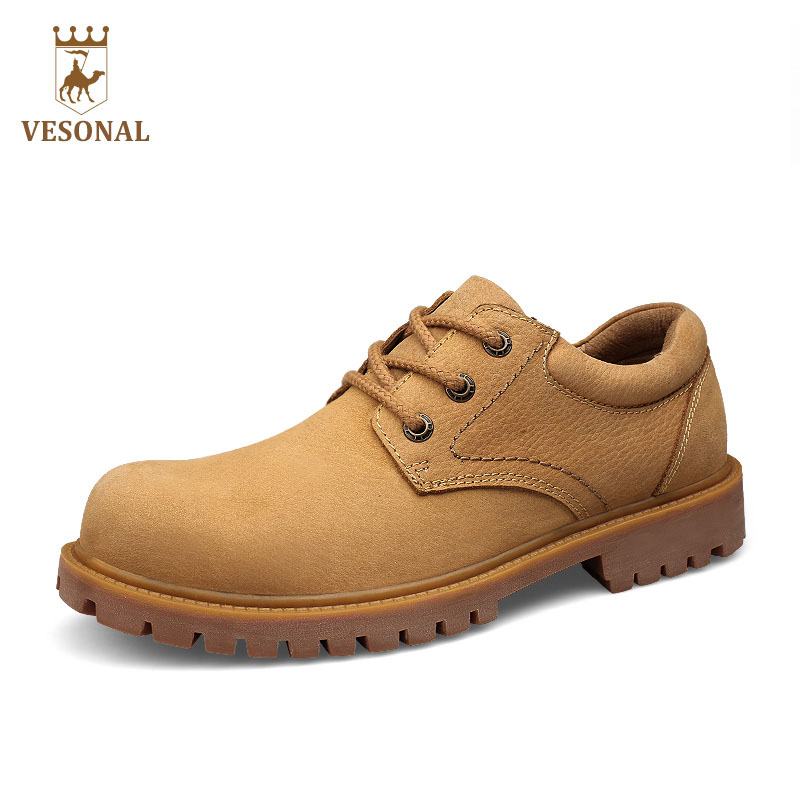 VESONAL Hot Sale 2017 Brand Work Casual Male Shoes Adult Men Walking Autumn Winter Quality Genuine Leather Comfortable Footwear vesonal brand casual shoes men loafers adult footwear ons walking quality genuine leather soft mocassin male boat comfortable