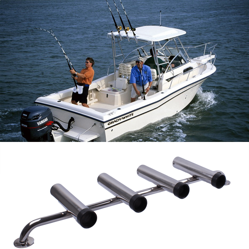 304 Stainless Steel Fishing Rod Holder Tube Rocket Launcher Boat Outfitting Rod Holders Boat Marine Superb