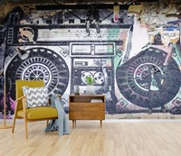 [Self Adhesive] 3D Recorder Poster Paper 4 Wall Paper mural Wall Print Decal Wall Murals