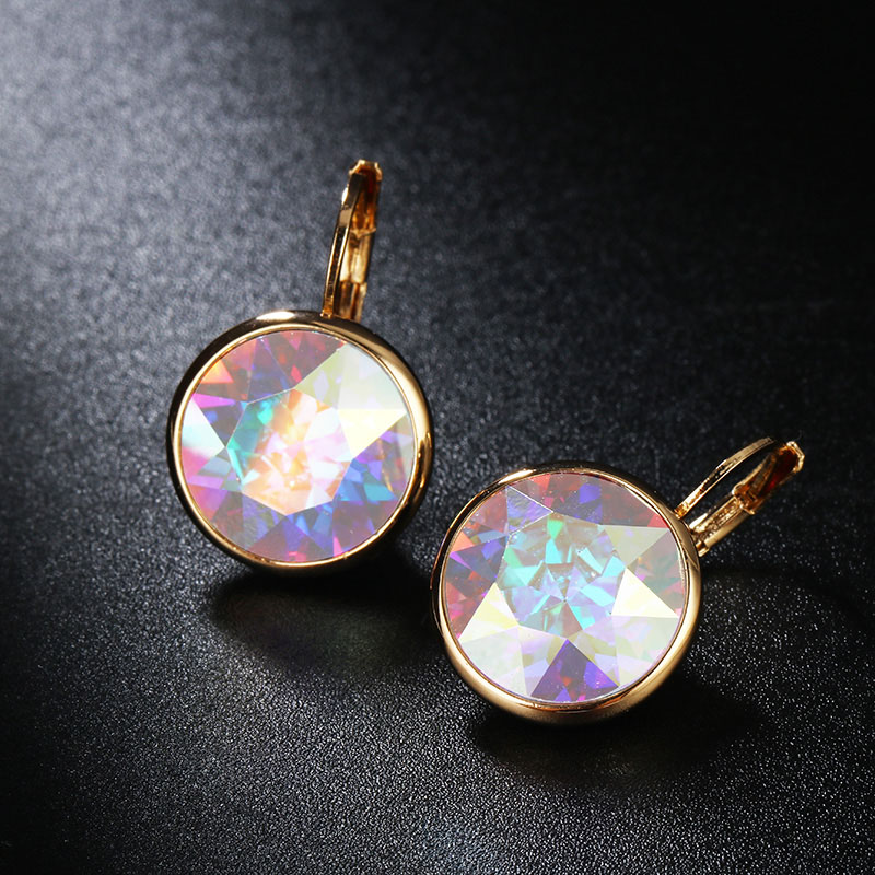 Idestiny 11 White Bella Crystal Earrings For Women Real From Austrian Fashion Stud Earings Party Jewelry Accessories In
