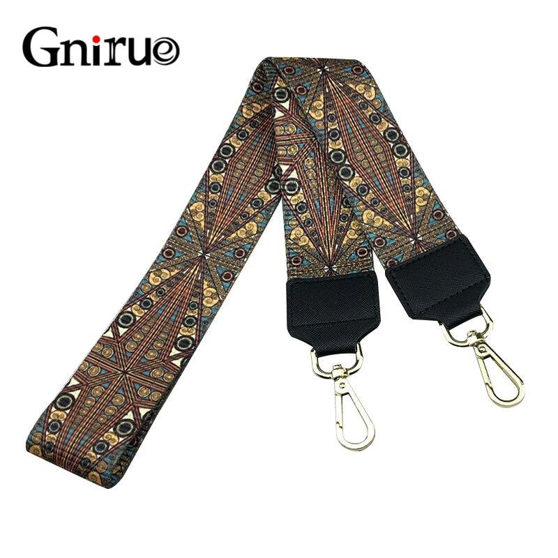 105CM Colorful Shoulder Straps Replacement Detachable Canvas Handbags Handles Belts Gold Buckle Hardware Purses Bag Accessories
