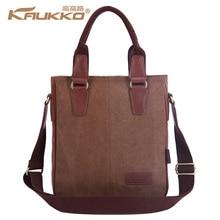Kaukko Canvas Fashion Handbag for Men's Messenger Business Single Shoulder Bag 2016 New Style