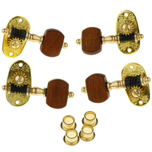 Tooyful Exquisite 4pcs Metal Ukulele 4 Strings Guitar String Tuning Pegs Keys 2R2L Rosewood Knob