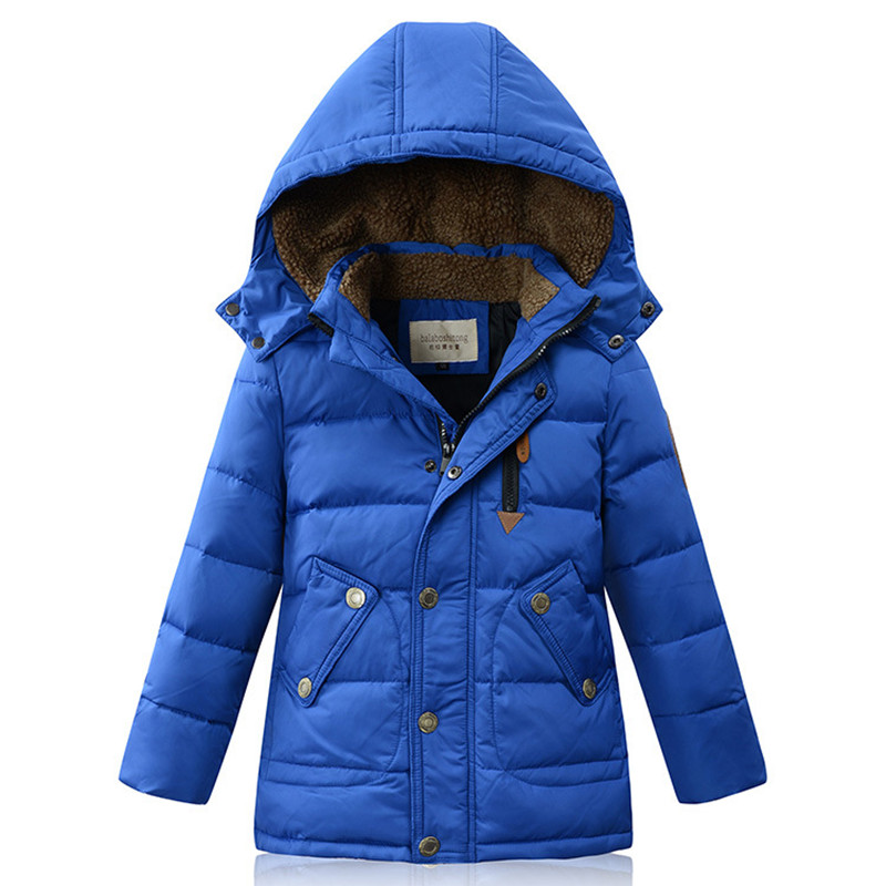 2018 Winter New Boys Down Coat Thermal Middle-Long Cashmere Collar Parkas Kids Cold-proof Overcoat Children 4 Colors 120-170cm bala 2016 winter girls down parkas thermal kids jacket long for girls coat thicken clothes cold proof children overcoat clothing