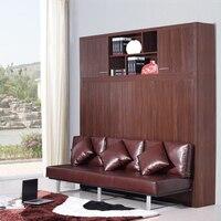 Кровать  ОБИТАЯ натуральной кожей  мягкий Электрический диван  Настенная кровать  домашняя мебель для спальни  camas lit muebles de dormitorio yatak mobby quarto