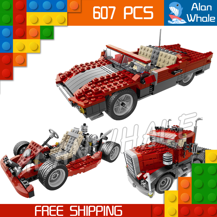 607pcs 3in1 Creator Series 24023 Big Rig Convertible Go-cart Building Blocks Deformation Truck Bricks Toys Compatible With Lego dream on me alissa convertible 4 in 1 crib