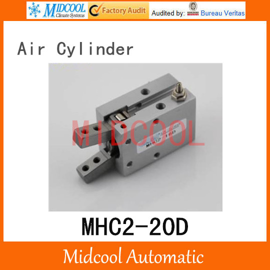 Pneumatic air cylinder gripper MHC2-20D  double acting pivot open closed gas claws manipulator high quality double acting pneumatic gripper mhy2 25d smc type 180 degree angular style air cylinder aluminium clamps