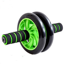 Free Shipping No Noise Green Abdominal Wheel Ab Roller With Mat Ab Wheel Roller with Knee Supporter Perfect Fitness AB Wheel