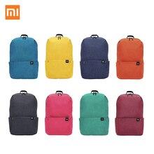 オリジナル xiaomi mi カラフルなバックパック 10L バッグ小型ショルダーバッグ 8 色 165 グラム重量レジャースポーツ胸パック男性の女性のバッグ