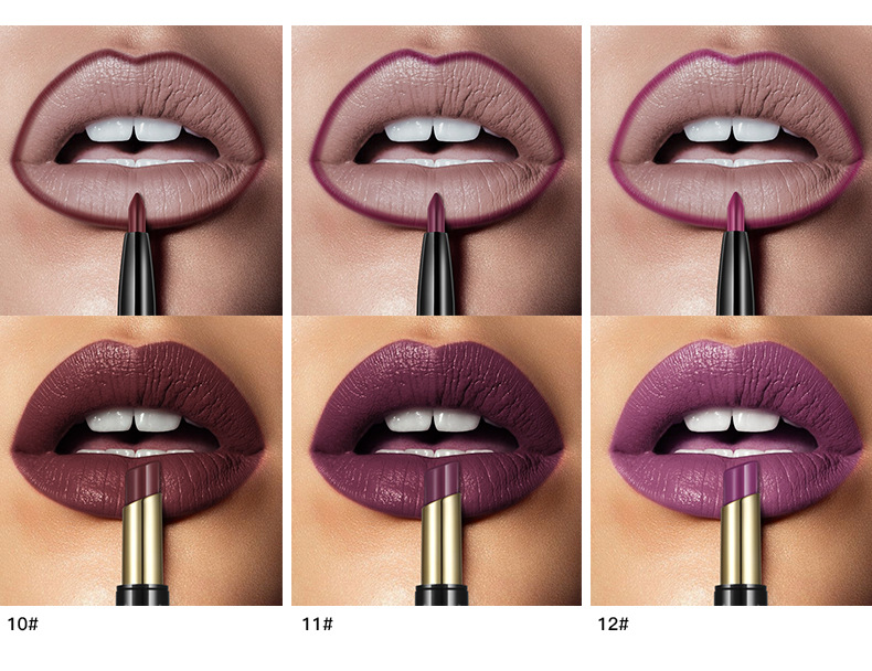 New PUDAIER Brand 16 Color Double Ended Nude Lasting Waterproof Lip Liner And Matte Lipstick Nude Dark Red Lips Liner Pencils (6)