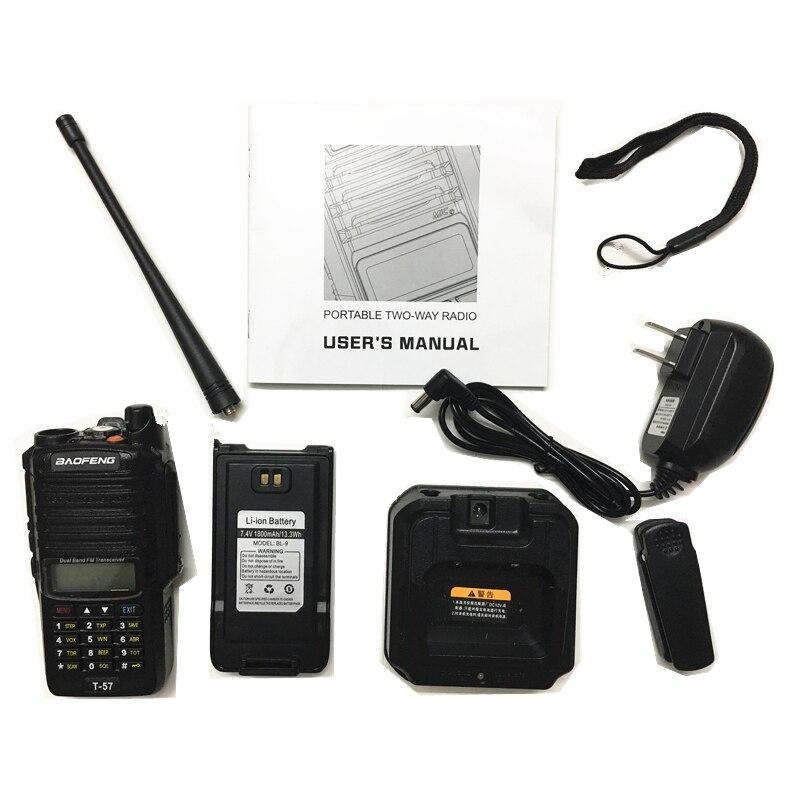 Image 5 - Baofeng T 57 5W Waterproof Walkie Talkie CB Radio Station Portable Handheld 10KM Long Range UV 9R Two Way Radio VHF Transceiver-in Walkie Talkie from Cellphones & Telecommunications