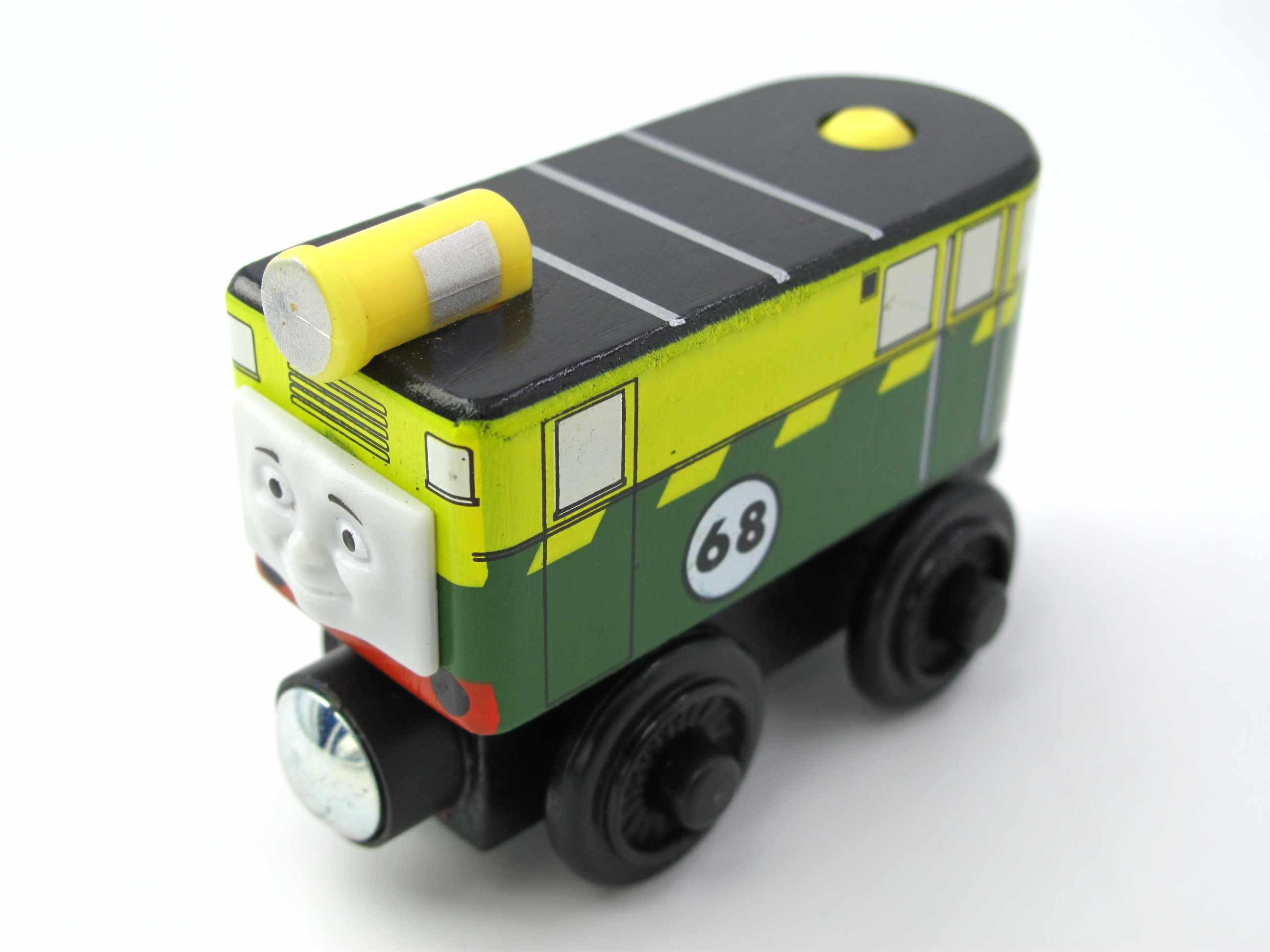 Wooden Train T001W PHILIP 68# Magnetic Truck Car Locomotive Engine Railway Toys for Children