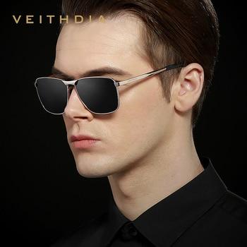 VEITHDIA Polarized Square Sunglasses UV400  2
