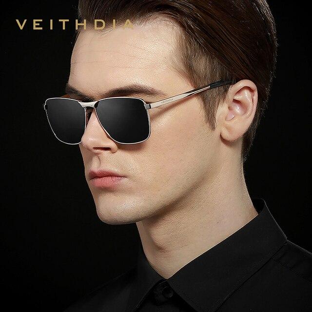 VEITHDIA-Gafas de sol cuadradas para hombres/mujeres, lentes polarizadas vintage de marca, UV400, accesorios, V2462 3