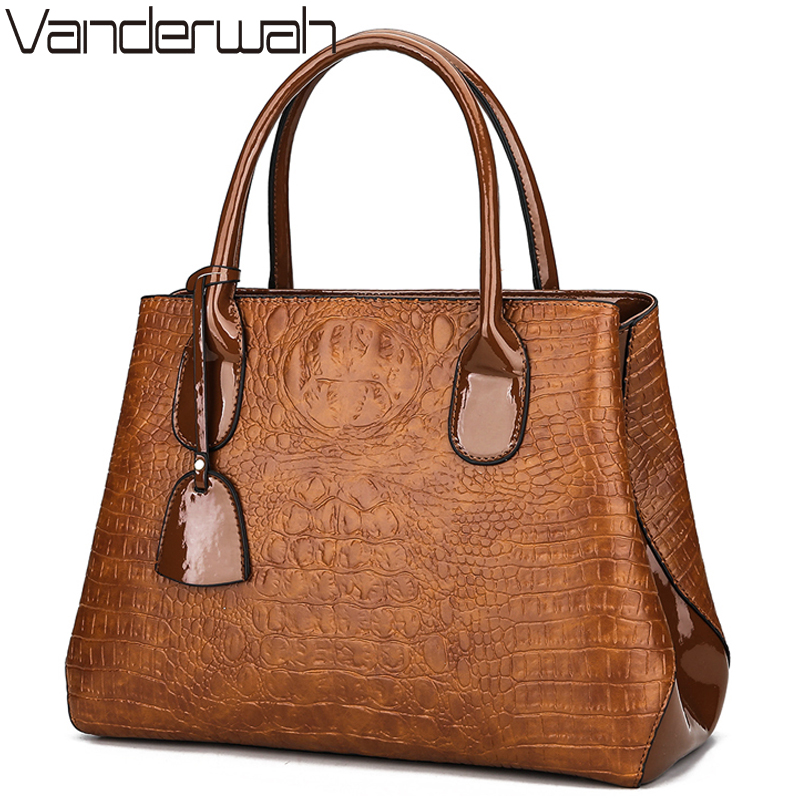 NEW Alligator luxury handbags women bags designer High Quality female tote bag ladies big shoulder bag sac a main England Style new women bag luxury alligator pu leather women handbags high quality famous designer handbag female shoulder bags sac a main