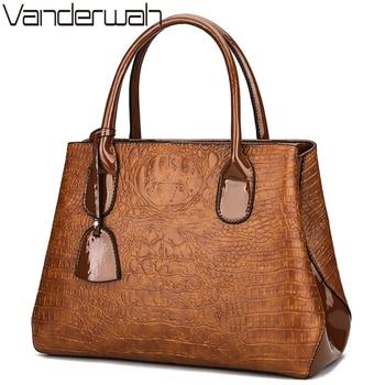 NEW Alligator luxury handbags women bags designer High Quality female tote bag ladies big shoulder bag sac a main England Style grande bolsas femininas de couro