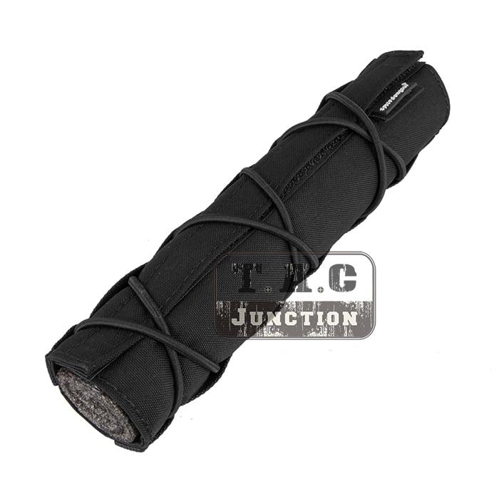 Prix pour Emerson Tactique 22 cm Suppresseur Mirage Couverture Noir Libération Rapide Airsoft Accessoire Réglable Couverture avec Choc sangle
