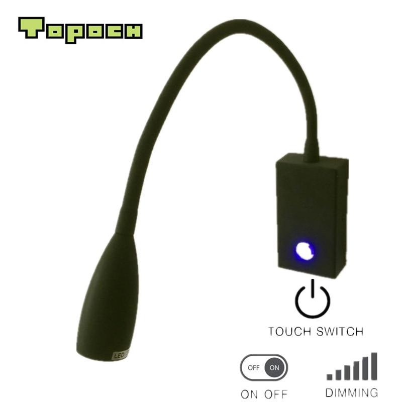 Topoch tompított fény hálószoba LED 3W érintéscsillapító / - Beltéri világítás